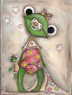 Leap Cute Frog E  ~DUDADAZE