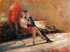 A Kiss in the Park by Christopher Clark
