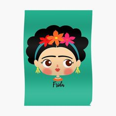 Friday Kahlo, Dress Logo, Cactus Vector, Frida Art, Mexican Dresses, Painting For Kids, Gourds, Rock Art, Cookie Decorating