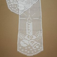 Crochet Curtains, Needlepoint Kits, Filet Crochet, Diy And Crafts, Stitch, Knitting, Pattern, Christmas, Dining Table Runners