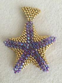 Jewelry by Jasvanti: Beaded Starfish Pendant II