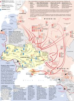War. What is it good for?  Map of Russia surrounding Ukraine w/troops