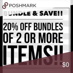 20% off Bundles 2+ All bundles 20% off! Other