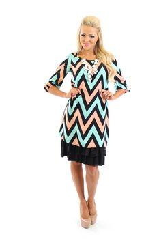 fall chevron dress