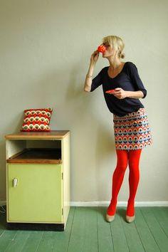 Bonny and Buttermilk Retro skirt