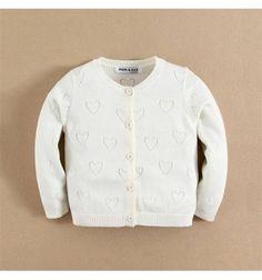 Jual sweater bayi anak Mom and Bab Cardigan Sweater - White Love