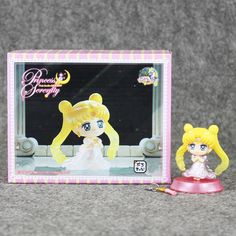 "1Pcs Sailor Moon Figures Tsukino Usagi PVC Action Figure Toys Q Version 20th Anniversary Collectible Model Dolls 4"" 6cm With Box #Affiliate"