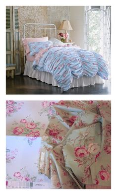 Inspired by a favorite from Rachel Ashwell Shabby Chic Couture line.  The Cabbage Rose Duvet for Simply Shabby Chic® at Target.