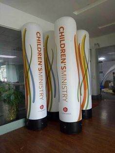 Inflatable tubes with logo