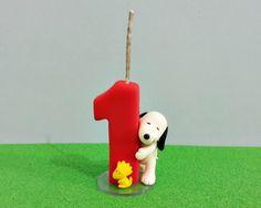 Vela personalizada Snoopy e Woodstock