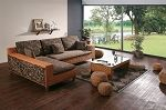 Unique Modern Wicker Sectional Sofa  Modern Wicker Sectional Sofa  - Matching Table Included -  $2,750.00