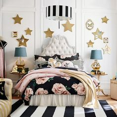 Shop Pottery Barn Teen's Emily & Meritt Parisian Bed Of Roses Teen Bedroom for teen girl room ideas. Transform your space to express your individual style with our teen room inspiration and ideas. Girls Bedroom, Teenage Girl Bedroom Designs, Teenage Girl Bedrooms, Bedroom Decor, Bedroom Ideas, Bedding Decor, Wall Decor, Unique Teen Bedrooms, Boy Bedrooms