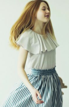 &sloe / smocking skirt