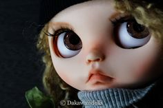 "One customized OOAK BlytheDoll "" Mia"" by Dakawaiidolls on Etsy"
