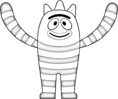 What is brobee dreaming coloring page yo gabba gabba for Brobee coloring page