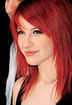 Hayley Williams (Paramore). I wish I could pull off that hair color!