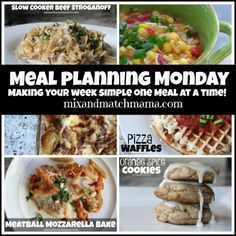 Meal Planning Monday #173