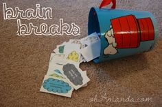 "Awesome ""brain breaks"" to help kids focus during homeschool or homework. From ""The Ultimate Guide to Brain Breaks"""