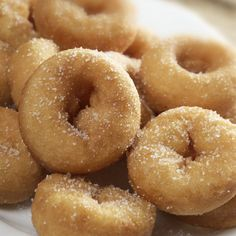 """Former Pinner said """"This recipe for baked mini donuts are a healthier baked version topped with a delicious cinnamon sugar dusting. Baked Mini Donut Recipe from Grandmothers Kitchen. Baked Mini Donuts Recipe, Potato Doughnuts Recipe, Mini Donut Recipes, The Chew Recipes, Mini Doughnuts, Baked Doughnuts, Baking Recipes, Powdered Donuts, Powdered Sugar"""