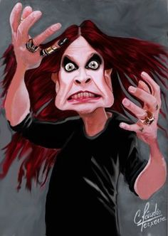 Funny Caricatures, Celebrity Caricatures, Celebrity Drawings, Heavy Metal, Ozzy Osbourne Quotes, Elvis Presley Pictures, Famous Cartoons, Kodak Moment, Rock Legends