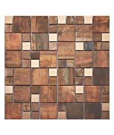 Information about Copper Fusion Modular Mix Mosaic Tile Marble Mosaic, Mosaic Tiles, Tile Care, Loft Bathroom, Bathroom Small, Topps Tiles, Kitchen Wall Tiles, Kitchen Dining, Tile Stores
