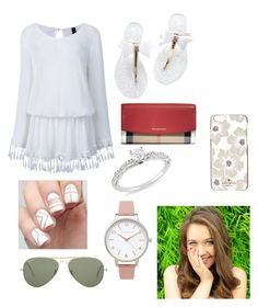 """""""Shopping!"""" by rikey-byrnes on Polyvore featuring Burberry, Ice, Olivia Burton, Ray-Ban and Kate Spade"""