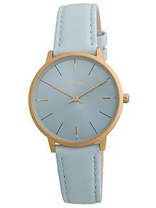 Minimalistic gold plated and blue watch