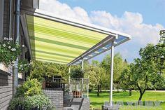 Komfortní hliníkové zastřešení terasy včetně integrované markýzy