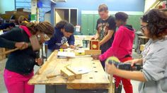 Hands-on project based learning is the  creative approach to a meaningful learning experience.  Here our Bayfront Alternative Education Program students craft handmade Cigar Box Guitars.