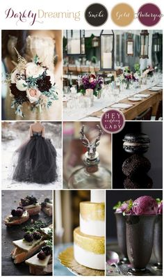 Darkly Dreaming – A Moody, Romantic Inspiration Board in Smoke, Gold, and Aubergine » Hey Wedding Lady