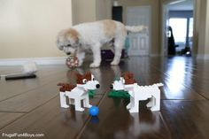 Love this post? Then pass it on! Lego Dog, Lego Activities, Terrier Dogs, Terriers, Lego Brick, Lego Creations, Bricks, Frugal, Boys