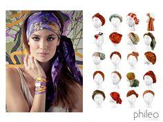 20 maneiras de usar lenço na cabeça!!!