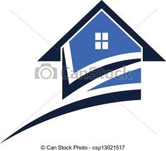 Vector - House swoosh - stock illustration, royalty free illustrations, stock clip art icon, stock clipart icons, logo, line art, EPS picture, pictures, graphic, graphics, drawing, drawings, vector image, artwork, EPS vector art