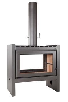 Hanging Fireplace, Fireplace Hearth, Stove Fireplace, Modern Fireplace, Fireplace Design, House Extension Design, Freestanding Fireplace, Kitchen Stove, Wood Burner