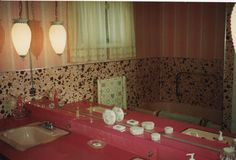 mamie pink living room   ... toilet & shower, but I'd assume it was Mamie pink like the tub & sink