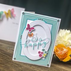 The weekend is here and I hope I get to do everything on my list. Who am I kidding...the list will be there, right?! Let's worry less about the list and more about card making. Because that's what gets us excited, right?! Today, I am featuring Color Pop Butterflies mini kit for Papertrey Ink. I… Butterfly Stencil, Butterfly Cards, Pink Cards, Pop Up Cards, Handmade Greeting Card Designs, Origami Bow, Bday Cards, Fun Fold Cards, Paper Crafts
