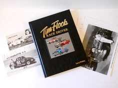 Tim Flock Race Driver Book Postcard Autograph Photo Georgia Hall of Fame NASCAR