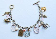Alice in Wonderland inspired charm bracelet....MUST HAVE!