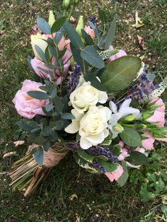 September bridesmaids bouquet with lavender Bridesmaid Bouquet, Bridesmaids, September Wedding Flowers, Seasonal Flowers, Lavender, Seasons, Plants, Seasons Of The Year, Plant