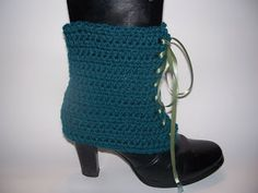 Free Crochet victorian fashions | Free Crochet Pattern - Tie Me Up Spats from the Womens misc. clothing ...