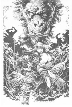 Conan: The Servants of Bit-Yakin by Tomás Giorello Comic Art Comic Book Artists, Comic Artist, Comic Books Art, Frank Frazetta, Tattoo Studio, Conan O Barbaro, Conan Movie, Conan Comics, Conan The Barbarian
