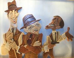 Rat Pack, Creating Caricatures in Wood