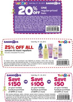 Pinned May 19th: 20% off a single item at Toys R Us & Babies R Us coupon via The Coupons App