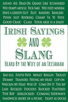 REAL Irish Sayings {From the Wife of an Irishman} - SohoSonnet Creative Living