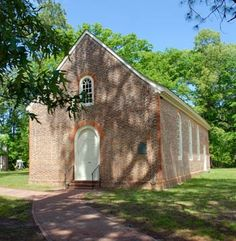 Visit Merchant's Hope Church.  The colonial church was built in 1657 and still operates today. It is located on the former site of my ancestor's home, Powelbrooke Plantation, whose owner Capt. Nathaniel Powell (one of the original 1607 Jamestown colonists and former Colonial Governor of Virginia) was killed along with his family and several others during the Powhatan Indian massacre of 1622.