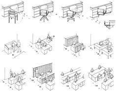 Площади рабочих мест в офисных помещениях. Строительное проектирование. Эрнст Нойферт, Bauentwurfslehre. Ernst Neufert