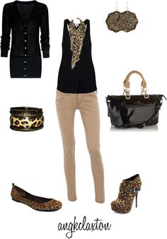 """Cheetah Fun"" by angkclaxton ❤ liked on Polyvore"
