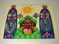 Disneyland's It's a Small World Postcard by Mary Blair