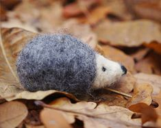Felted hedgehog, Toy felt Hedgehog,Toys miniature felt,Waldorf Toys animals,Hedgehog miniature.