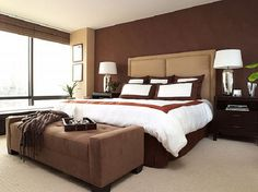 Elegant master bedroom ideas elegant master bedroom color schemes best ideas about brown bedroom colors on . Brown Bedroom Colors, Brown Master Bedroom, Bedroom Color Combination, Bedroom Orange, Bedroom Color Schemes, Master Bath, Colour Schemes, Color Combinations, Color Trends